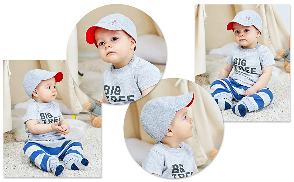 4ac6d992f83 Amazon.com  Keepersheep Baby Reversible Baseball Cap Infant Sun Hat ...