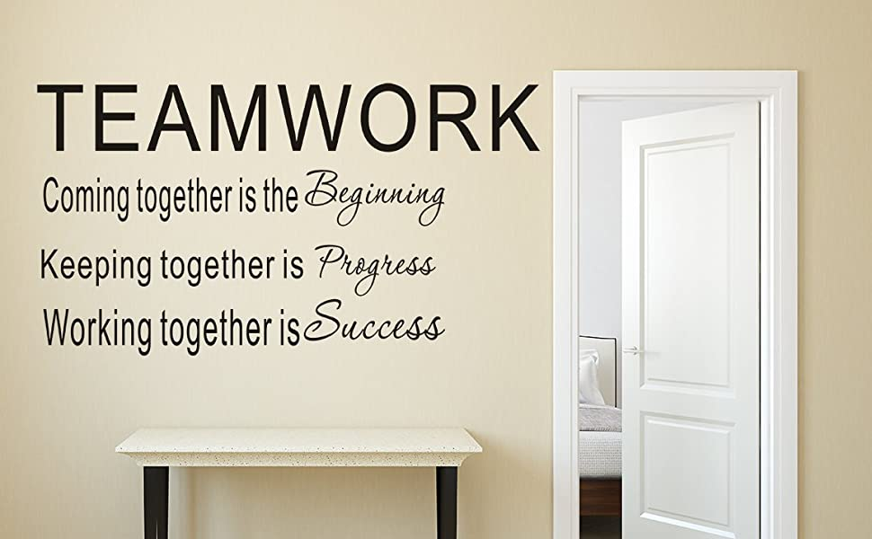 LUCKKYY Large Teamwork Motivation Inspirationa Creativity Office Wall Art  Decals Quotes for Office Wall Office Family Office Inspirational Wall  Decals ...