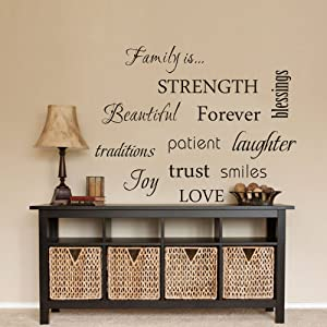 You Can DIY Any One Of The 12 Words Anywhere You Like. Mostly This Wall  Decal Is Match With The Photo Frame To Decorate Living Room Home