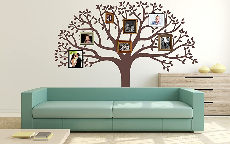 LUCKKYY Large Family Tree Wall Decal, Nursery Tree Wall Decals, Tree Mural, Vinyl  Wall Decal, Wall Sticker Part 58