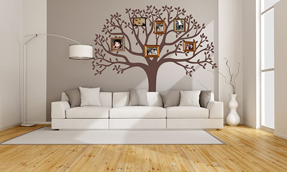 LUCKKYY Large Family Tree Wall Decal, Nursery Tree Wall Decals, Tree Mural,  Vinyl Wall Decal, Wall Sticker