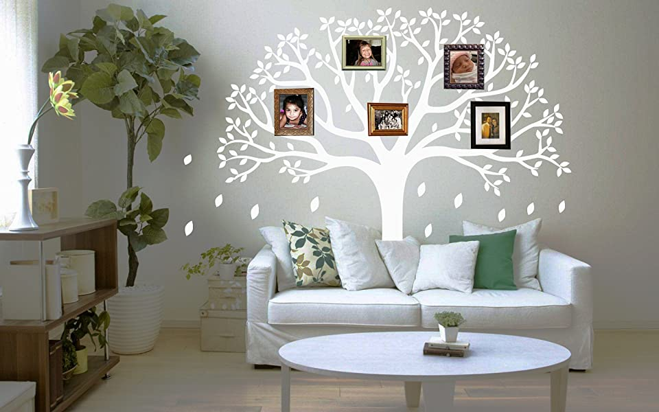 LUCKKYY Large Family Tree Wall Decal, Nursery Tree Wall Decals, Tree Mural, Vinyl  Wall Decal, Wall Sticker