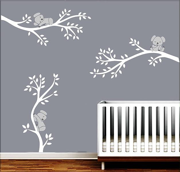 amazon com luckkyy three koalas tree branches wall decal wall