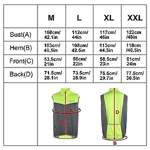 reflective vest windproof jacket