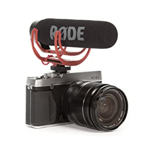 - Compact On Camera Microphone with Ryocote Lyre Shock Mount CAM CADDIE Scorpion JR RED Hand Held Support Grip R/ØDE VideoMicro