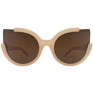 2ca50c3949 Amazon.com  TopFoxx Chloe High Fashion Cateye Sunglasses for Women ...