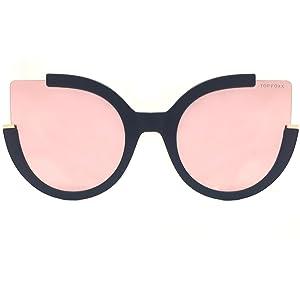 518e1cf8e Amazon.com: TopFoxx Chloe High Fashion Cateye Sunglasses for Women ...