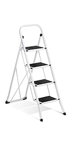 Amazon Com Delxo Lightweight Aluminum 4 Step Ladder With