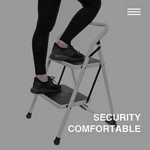 Delxo 2 Step Ladder Portable Step Stool With Handgrip Anti