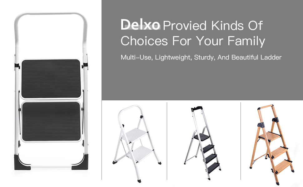 Amazon Com Delxo Step Ladder Portable Step Stool With