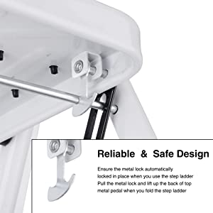 Delxo 2 Step Stool Folding Step Stool Steel Stepladders