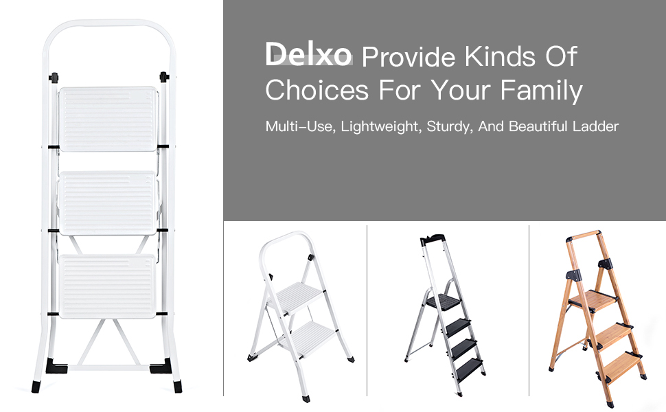 Amazon.com: Delxo escalera plegable con mango antideslizante ...