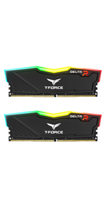 TEAMGROUP T-Force Delta RGB DDR4 16GB (2x8GB) 3000MHz (PC4-24000) CL16 Black