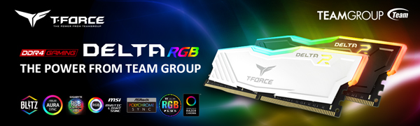 TEAMGROUP T-Force Delta RGB DDR4 16GB (2x8GB) 3000MHz (PC4-24000) CL16  Desktop Memory Module ram TF3D416G3000HC16CDC01 - Black