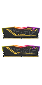 TEAMGROUP T-Force Delta RGB DDR4 16GB (2x8GB) 2666MHz PC4-21300 CL15 Desktop Memory Module ram White