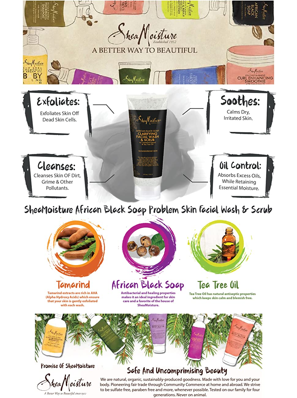 African Black Soap Facial Wash And Scrub by SheaMoisture #13
