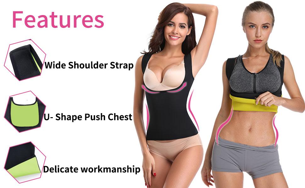 Hot Sweat Sauna Korsett Top Weste Fitnessstudio Slimming Fit Body Shaper Sauna
