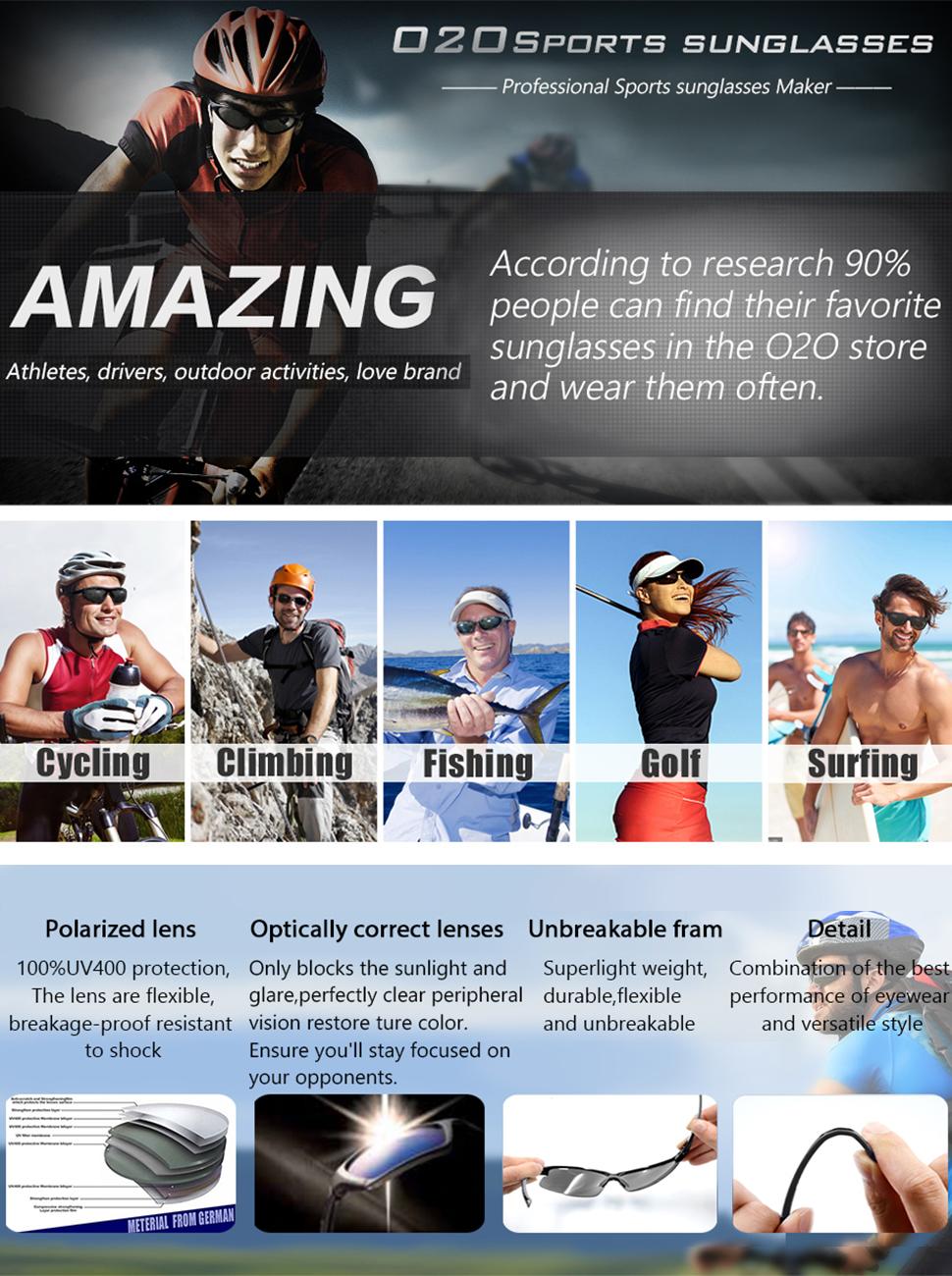 167cd77fef O2O Polarized Sports Sunglasses for Men Women Teens Biking Driving ...