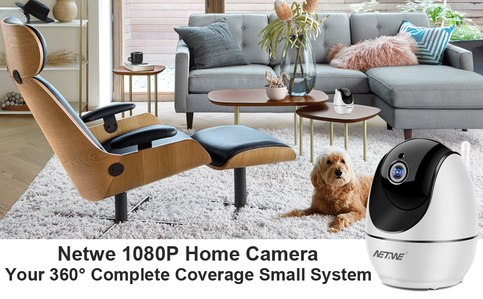 Dome Cameras Security WiFi IP 1080P Surveillance Home Indoor Wireless Dog//Baby /""
