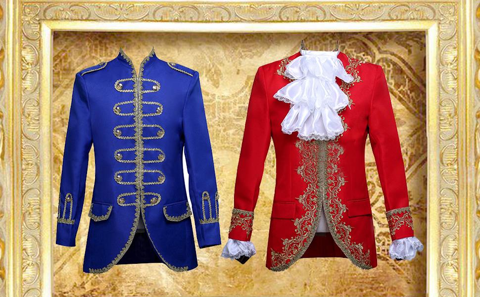 767eda3a96d0 Amazon.com  ROLECOS Mens Prince Charming Costume Royal Tuxedo Luxury ...