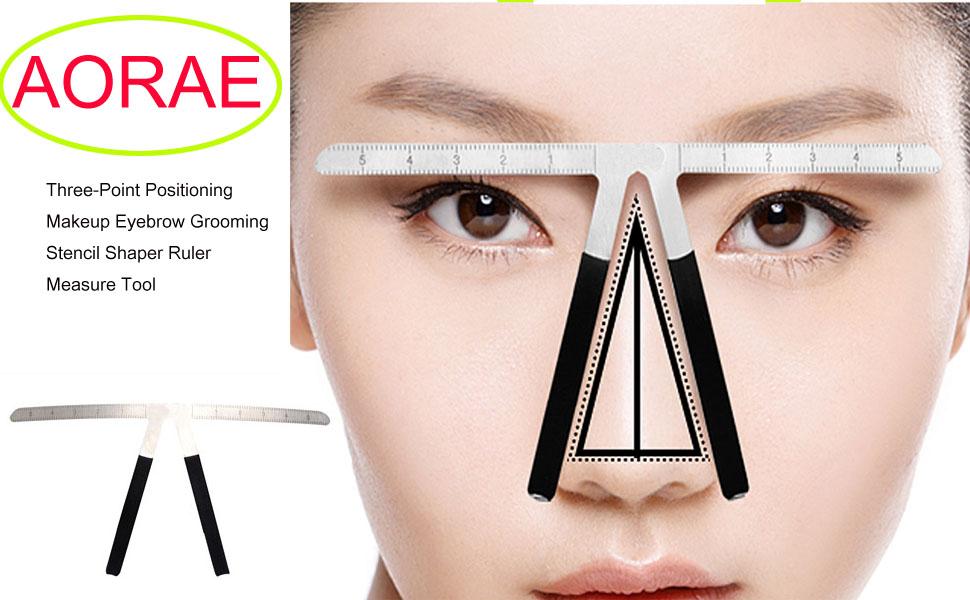 Amazon Aoraem Eyebrow Ruler Grooming Makeup Stencil Shaper