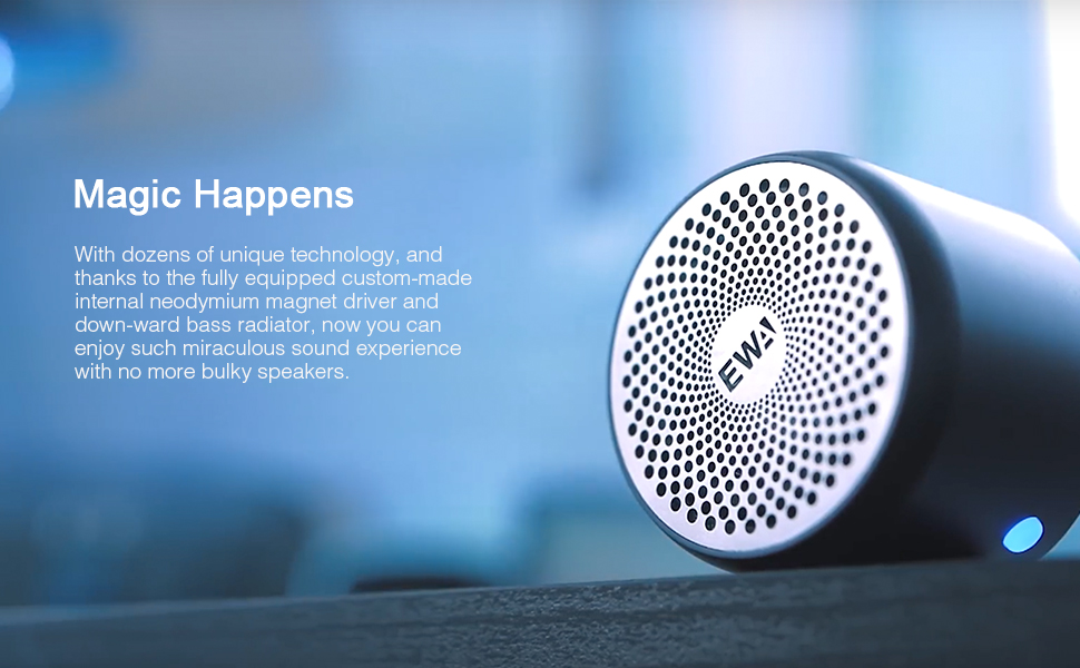 EWA A106 bluetooth speakers