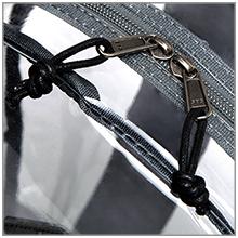 clear backpack zipper