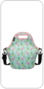 flamingos lunch bag