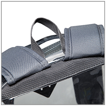 clear backpack strap