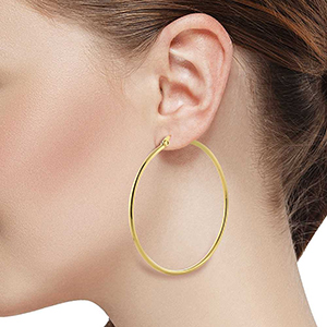 Gorgeous and Sparkly Hoop Earrings