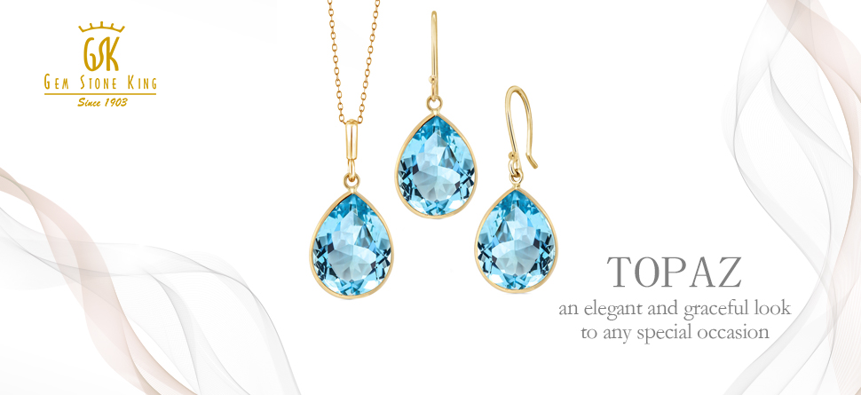 ea2d52dc3d52de Topaz Jewelry: Topaz is a gem which is available in multiple colors such as  yellow, orange, pink, red, violet and green.