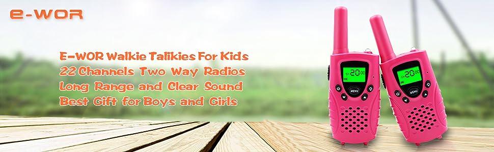 Walkies Talkies for Kids, 22 Channels FRS/GMRS UHF Two Way Radios 4 Miles  Handheld Mini Kids Walkie Talkies for Boys Girls Best Gifts Kids Toys Built