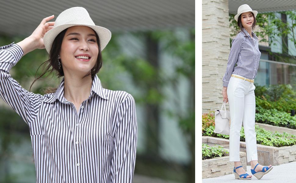 Leonis Women s Soft Stretch Easy Care + Undies Bodysuit Shirt Stripe ... 080409448