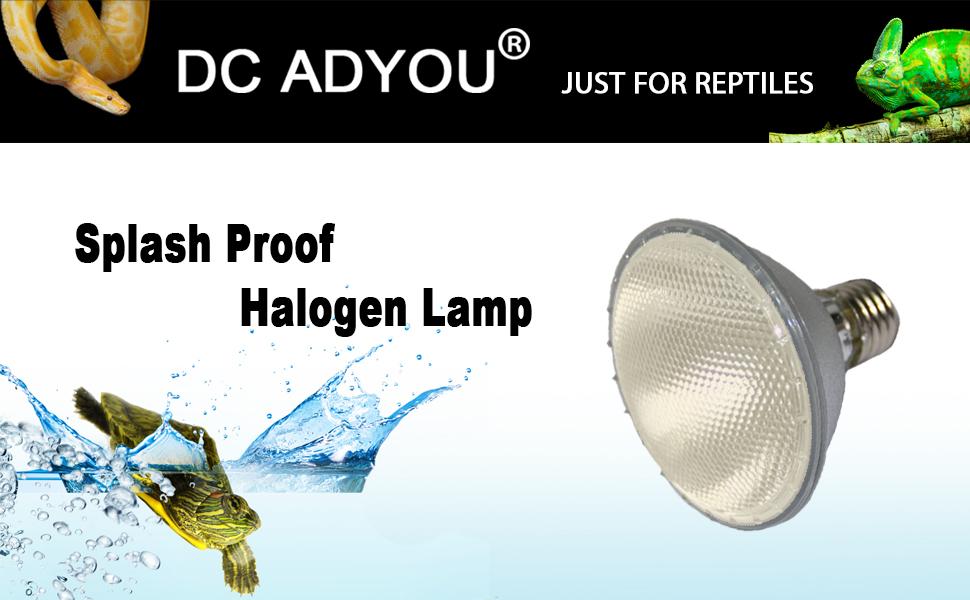 Amazon Com Dc Adyou Turtle Heat Lamp Bulb Splash Proof Halogen Light Bulbs For Aquariums And