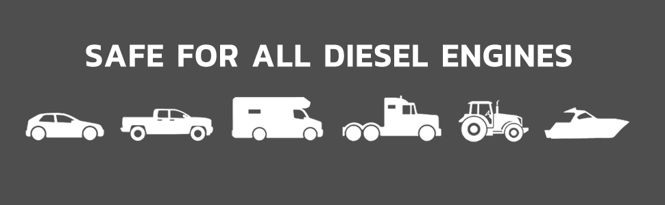 Safe for all diesel engines