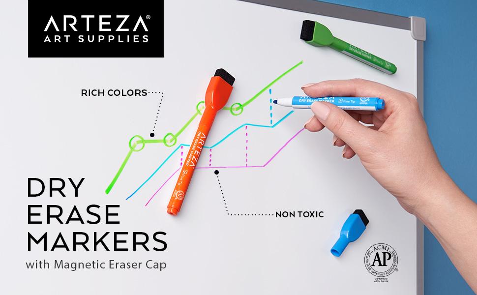 Dry-Erase-Markers-Magnetic-Eraser-Cap
