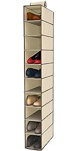 shoe hanging closet organizer