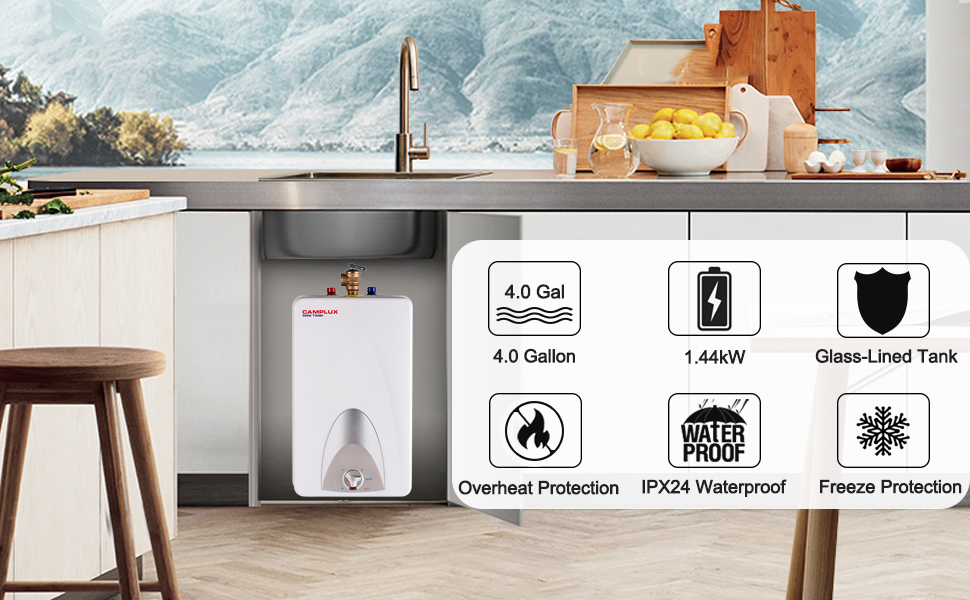 Camplux ME40 Electric Mini Tank Water Heater