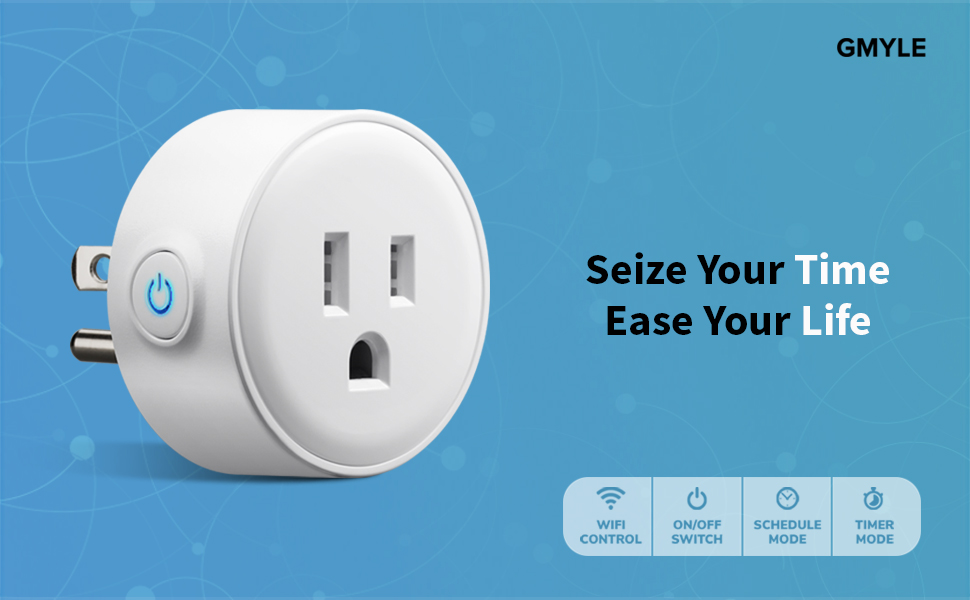 GMYLE Wifi Smart Plug Mini Outlet Socket Work with Alexa, Remote Control  Your Electric Devices from Anywhere, No Hub Required, Work with Amazon  Alexa