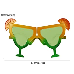 kilofly Pineapple Sunglasses Hawaiian Luau Summer Pool Party Favor Photo Props