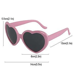 kilofly 10 Sets Heart Shaped Fun Cute Colorful?Bachelorette?Women Sunglasses?