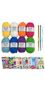 acrylic yarn crochet hooks