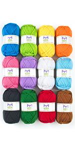 knitting yarn acrylic yarn large balls