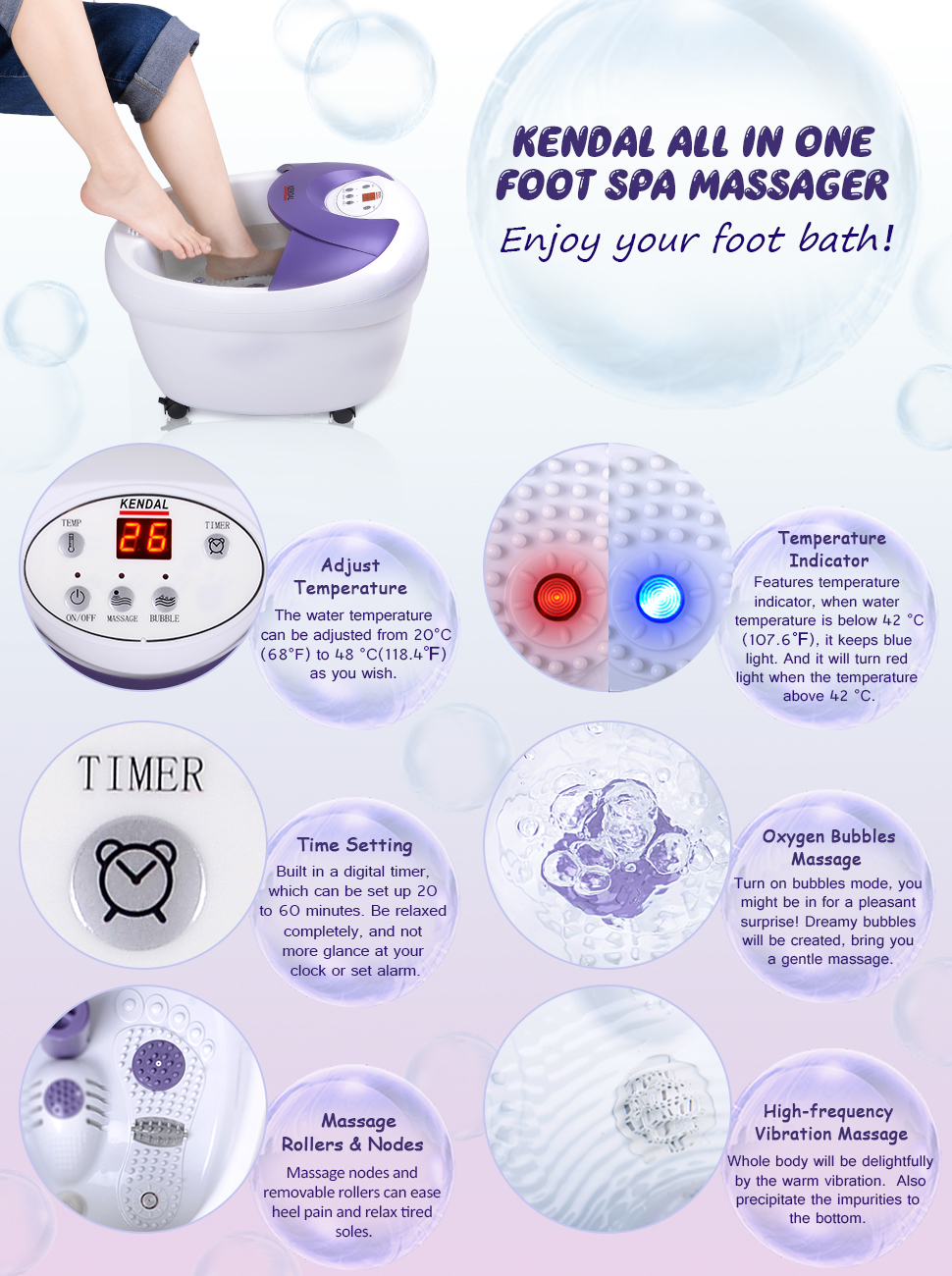 Amazon.com: All in one foot spa bath massager with rolling massage ...