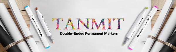 Rotulador de colores para marcadores de l/íquido de doble punta con bolsa de transporte para colorear dise/ño de mangas 40 Colors