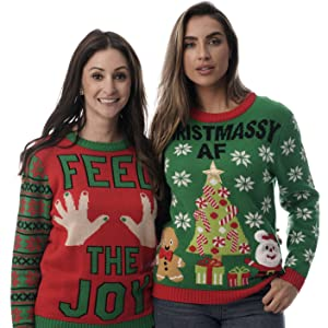 b964ddbe5 Amazon.com: #followme Womens Ugly Christmas Sweater - Sweaters for ...