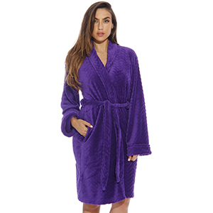ultra soft lounge robe chevron texture plush