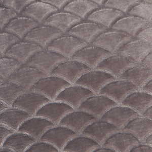 texture scallop velour plush soft
