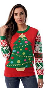 1c43df3d059c Amazon.com: #followme Womens Ugly Christmas Sweater - Sweaters for ...