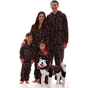 Adult onesie xmas christmas pajamas candy cane holidays family pjs pajamas